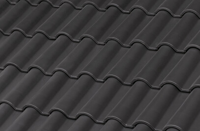 TB-12 CERAMIC ROOF TILE | PLAIN COLOUR GRAPHITE