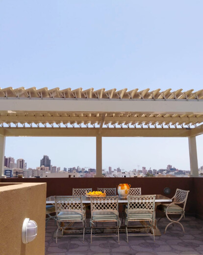 Terrace in Kuwait with Copilouvre pergola!