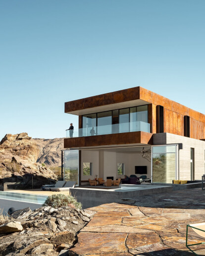 Ridge Mountain House arises from the austere beauty of the desert