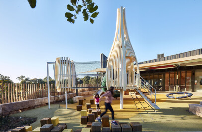 Architectural pod play space