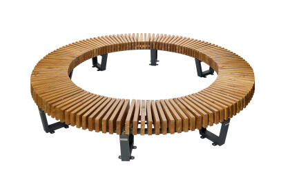 Curved bench Boston NEW