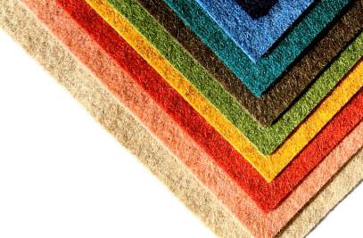 Woolfelt dyed heathered colours