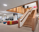 The Children's Library play area enjoys natural light, and the Teen Center has a dedicated staircase and study and media rooms.