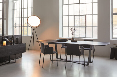 PERO barrel-shaped table