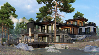 House project in a modern American style