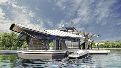 CYBER HOUSE BOAT - super-secure house on the water