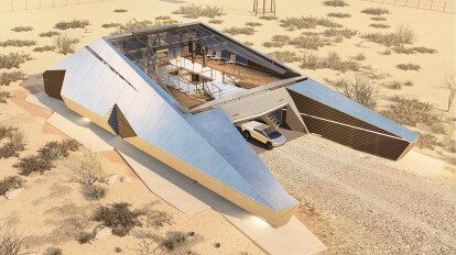 CyberHouse - unique project ultra-protected luxury house with a bunker inside