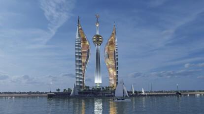 DJIBOUTI TOWERS - 243-meter-high skyscraper's complex in African.