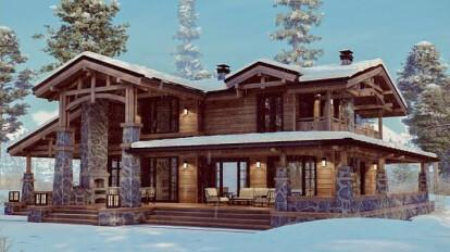Загородный дом в стиле Шале