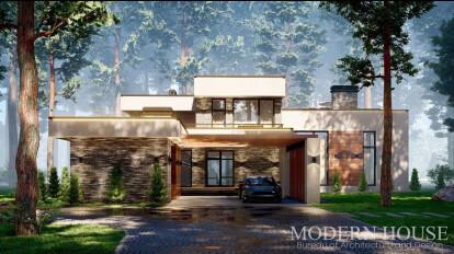 Загородный дом в стиле Хай Тек
