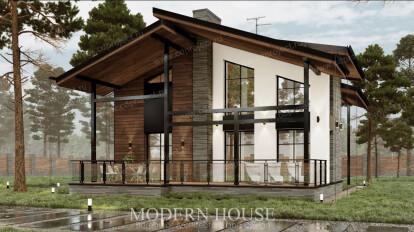 Загородный дом в стиле современное шале