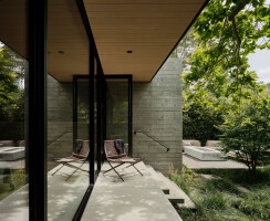 Architect Tai Ikegami designed the house around a series of trees on the site.