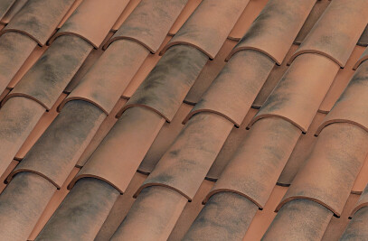 C-45.20 CURVED ROOF TILE | NATURE MOSS RED