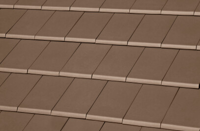 FLAT-10 CERAMIC ROOF TILE | PLAIN COLOUR CHOCOLATE