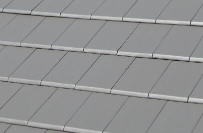 FLAT-10 CERAMIC ROOF TILE | PLAIN COLOUR MID GREY