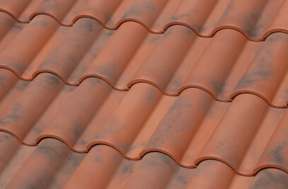 TB-10 TECH CERAMIC ROOF TILE | NATURE MOSS RED