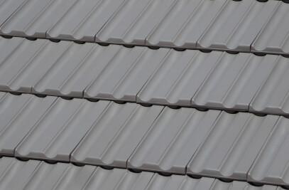 TECHNICA-10 FLAT ROOF TILE | PLAIN COLOUR MID GREY
