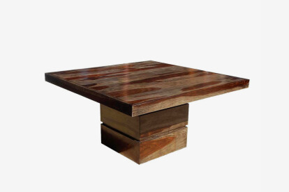 Furniture BoutiQ Florida Solid Wood 48 Inches Square Pedestal Dining Table