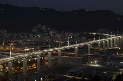 The Genoa Saint George Bridge