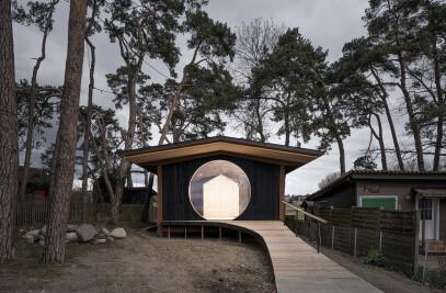 Construction of an observation hut in préverenges
