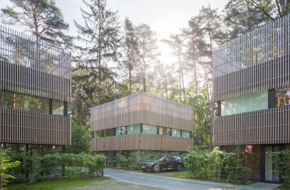 Residential Houses in the Pinewood Near Vilnius