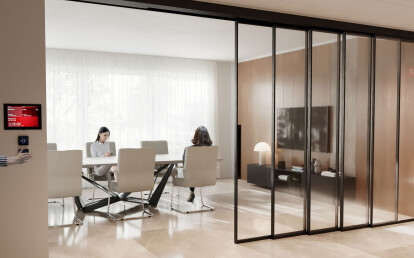Meeting room: EXPO in black anodized finish