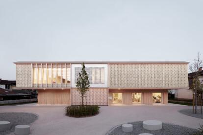 Innauer Matt Architekten completes daycare in the Austrian Rhine Valley with subtle detailing