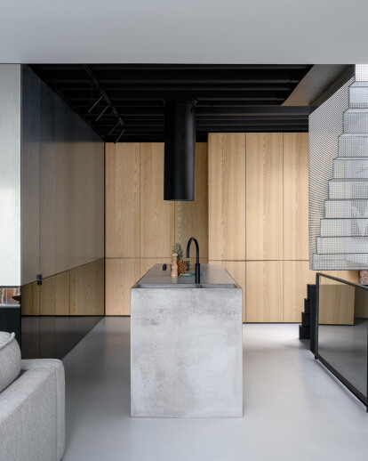 Firm architects transforms unusable attic space into minimal loft