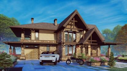 Дом в стиле Американское шале