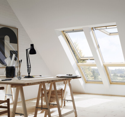 VELUX manual top-hung roof window GPL