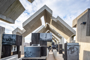 Mausoleum of the Martyrdom of Polish Village offers a power architectural experience in remembrance of the country's WWII pacification