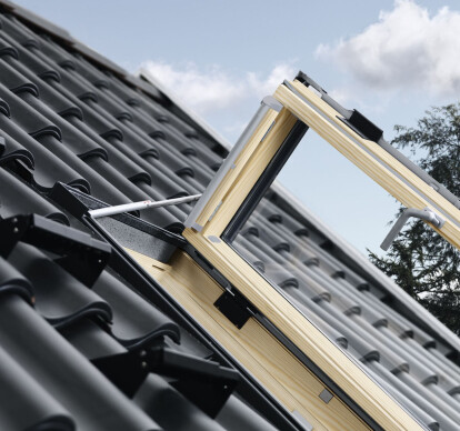 VELUX side-hung roof exit window GXL