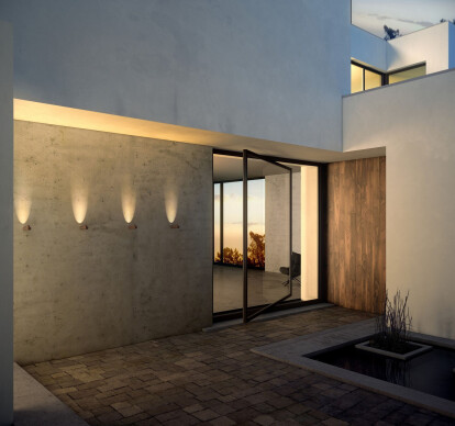 Bamboo Outdoor Wall Lamp