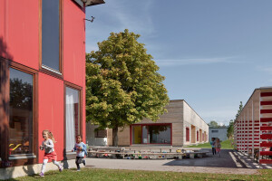 "Kindergarten ""Am Schlatt"" in Lustenau sees new extension by Bernardo Bader Architekten"