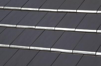 FLAT-10 CERAMIC ROOF TILE | PLAIN COLOUR GRAPHITE