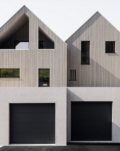 Swiss duplex design integrates two distinct users within a singular house structure