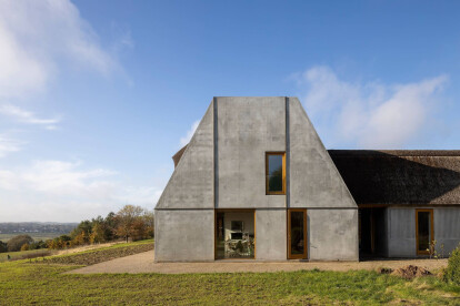 Recreational farmhouse designed by Danish architecture studio NORRØN embraces Danish ruralism while bridging history and contemporary ways of living