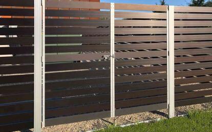 Audubon Anodized Aluminum Fence Equipment Screen with Gate