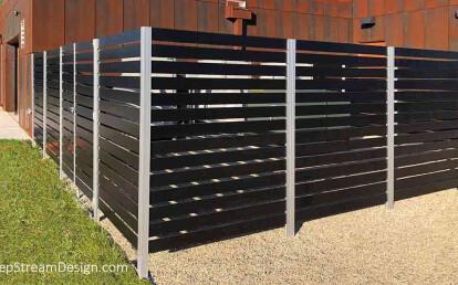 Audubon Aluminum Fence Equipment Screen with Gate