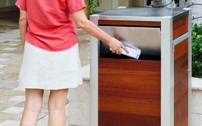 Oahu Modern Trash or Recycling Receptacle