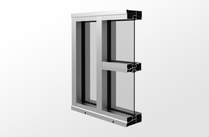 YES 45 CS Center Set, Can Storefront System with Monolithic Glass