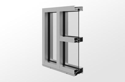 YES 45 FS – Center Set, Flush Glazed Storefront System with Monolithic Glass