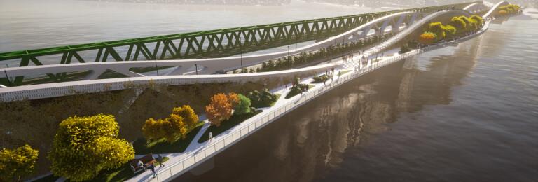 The 'green' bridge - the bridge covered with vegetation