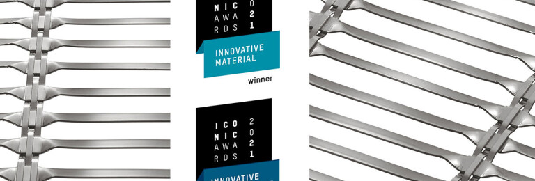 Sun protection mesh LARGO-TWIST 2045 receives two ICONIC AWARDS 2021: Innovative Architecture Awards