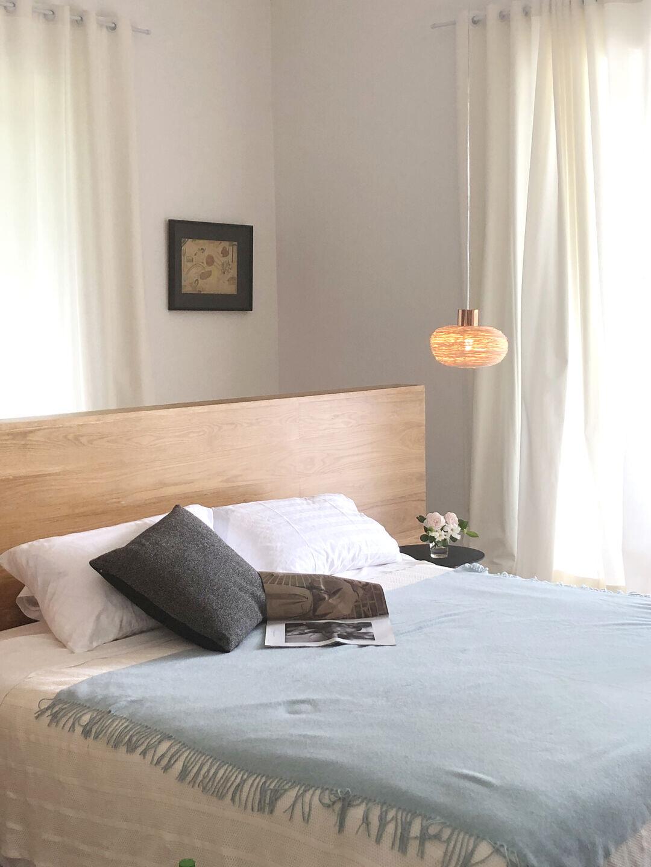 Hand-woven rattan ceiling lights