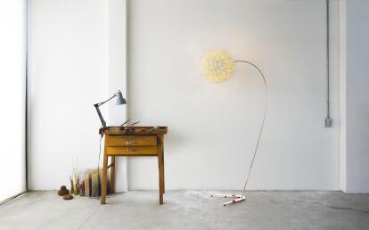 Chrysalis sky copper floor light