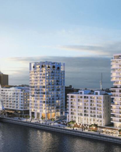 Strandkai residential tower THE CROWN