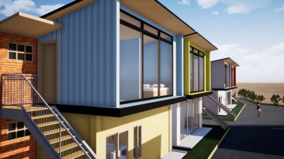 Desain Rumah dengan Bekas Kontainer - Concept