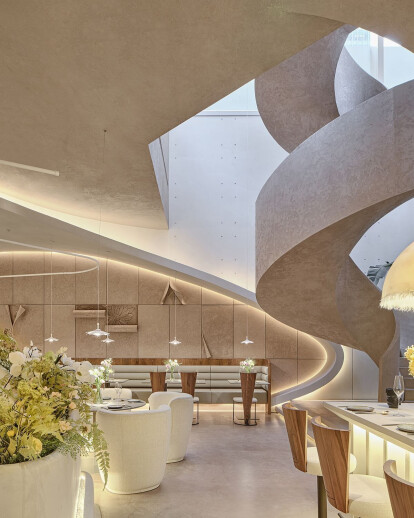 Tomacado (Shanghai IFC) combines restaurant with flower shop in this heavenly and peaceful urban retreat