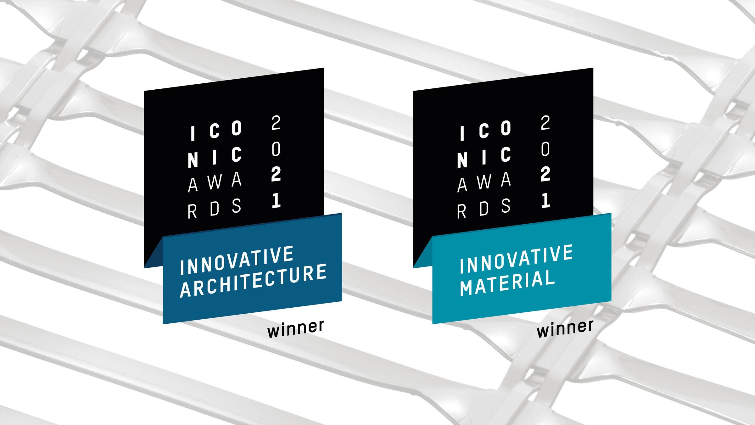 Iconic Awards: Innovative Architecture   Sun protection Mesh LARGO-Twist 2045
